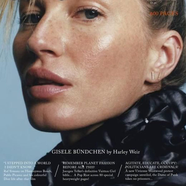 Gisele Bündchen Appears Makeup-Free on Pop Magazine Cover