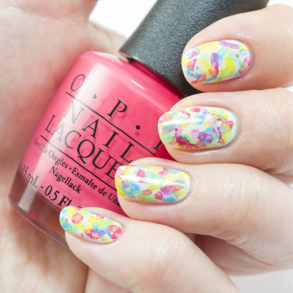 Abstract Nail Art That Makes a Splash … of Color!