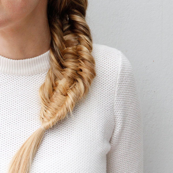Make a Statement with This Three-Strand Fishtail Braid