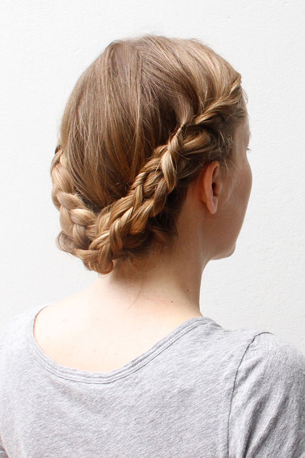 Elevate Your Braided Updo with a Lovely Lace Braid