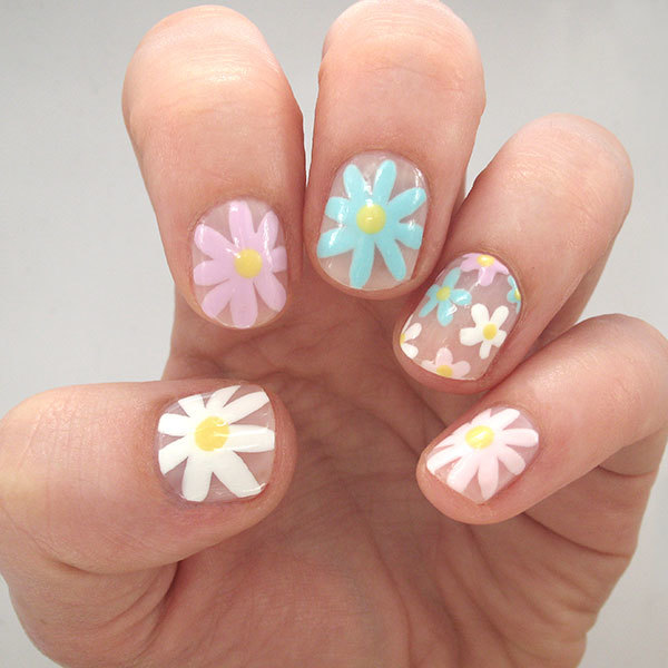 Negative-Space Floral Nail Art to Try