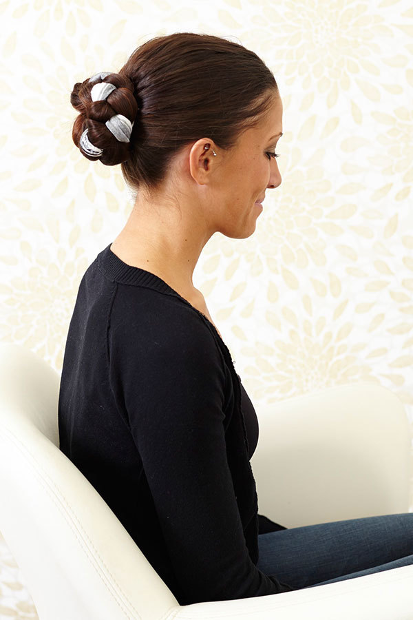 Dress Up Your Braided Chignon with a Silk Scarf