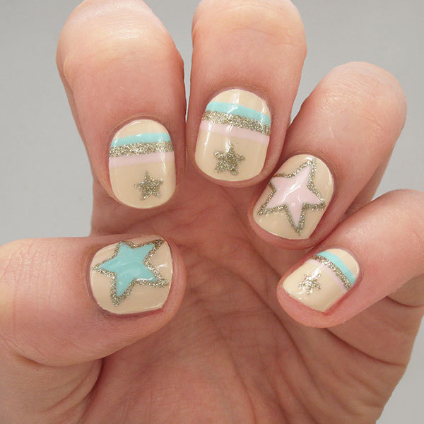 Glitter Star Nail Art for Out of This World Digits