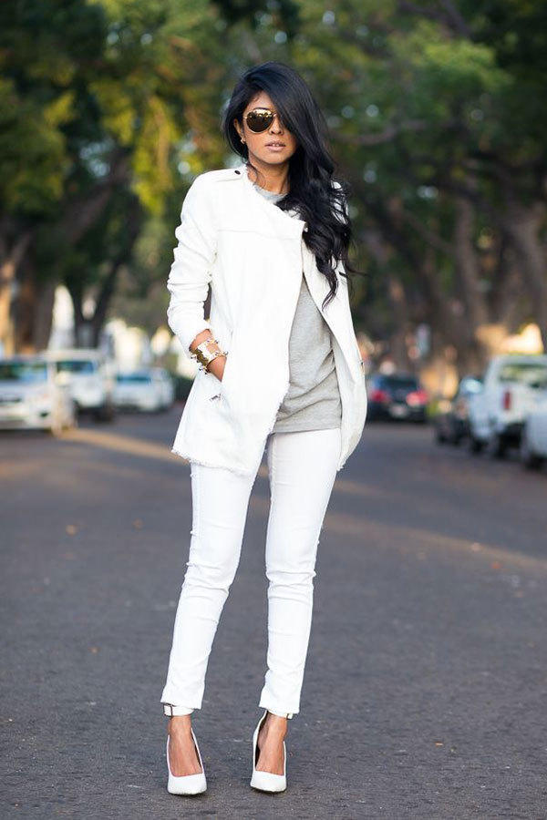 13 Inspiring Ideas for Wearing White This Winter