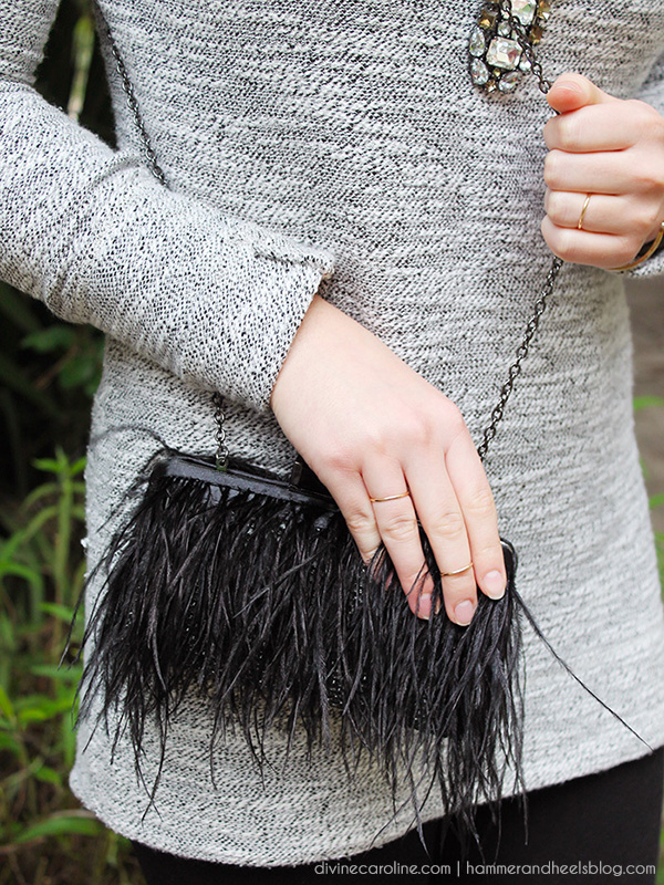 DIY Your Own Kate Spade-Inspired Feather Clutch
