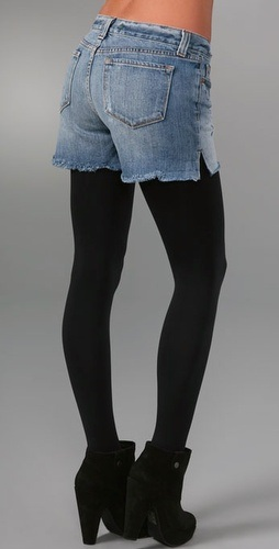 Booty Shorts with Tights: WTF?