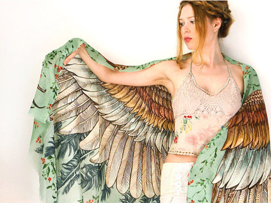 These Stunning Artistic Scarves Will Give You Wings