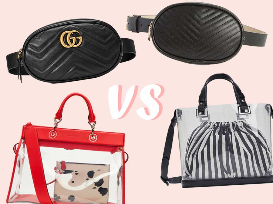 b02bdf4a0 Splurge vs. Save: 2018's Hottest Handbag Trends - More