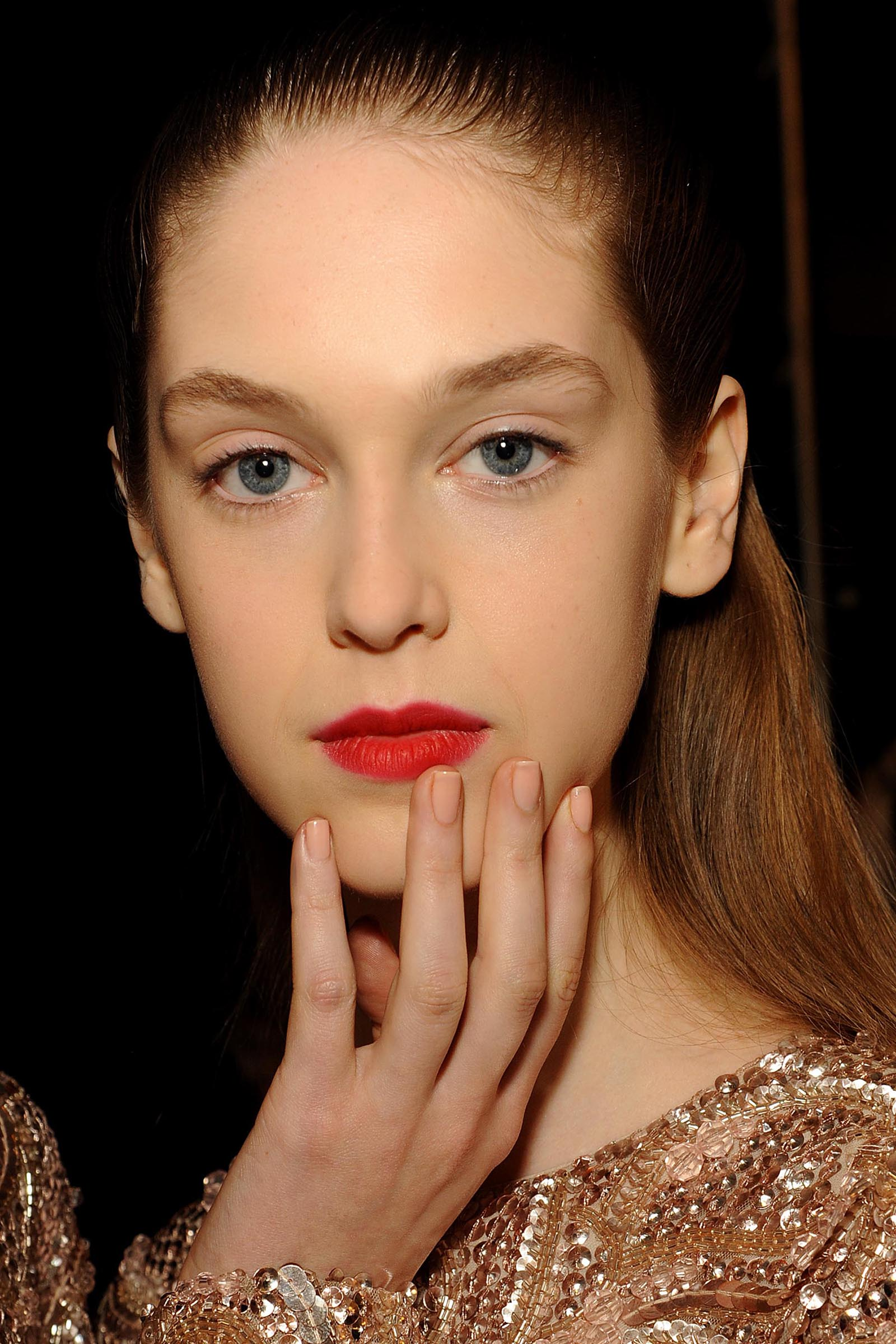 NYFW: Soft, Sheer Nails by butter LONDON on the Monique Lhuillier Runway