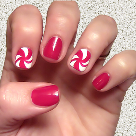 Holiday Nail Art: Swirly, Curly Candy Canes