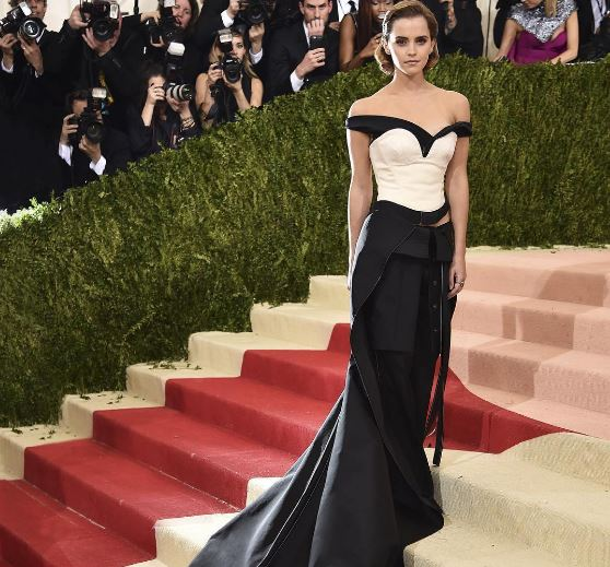 Emma Watson Wears Dress Made Out Of Recycled Plastic Bottles To The Met Gala