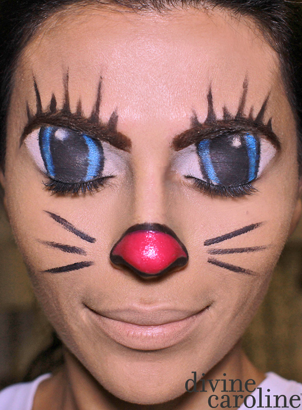 Halloween Makeup How To Illusion Cartoon Cat Face More
