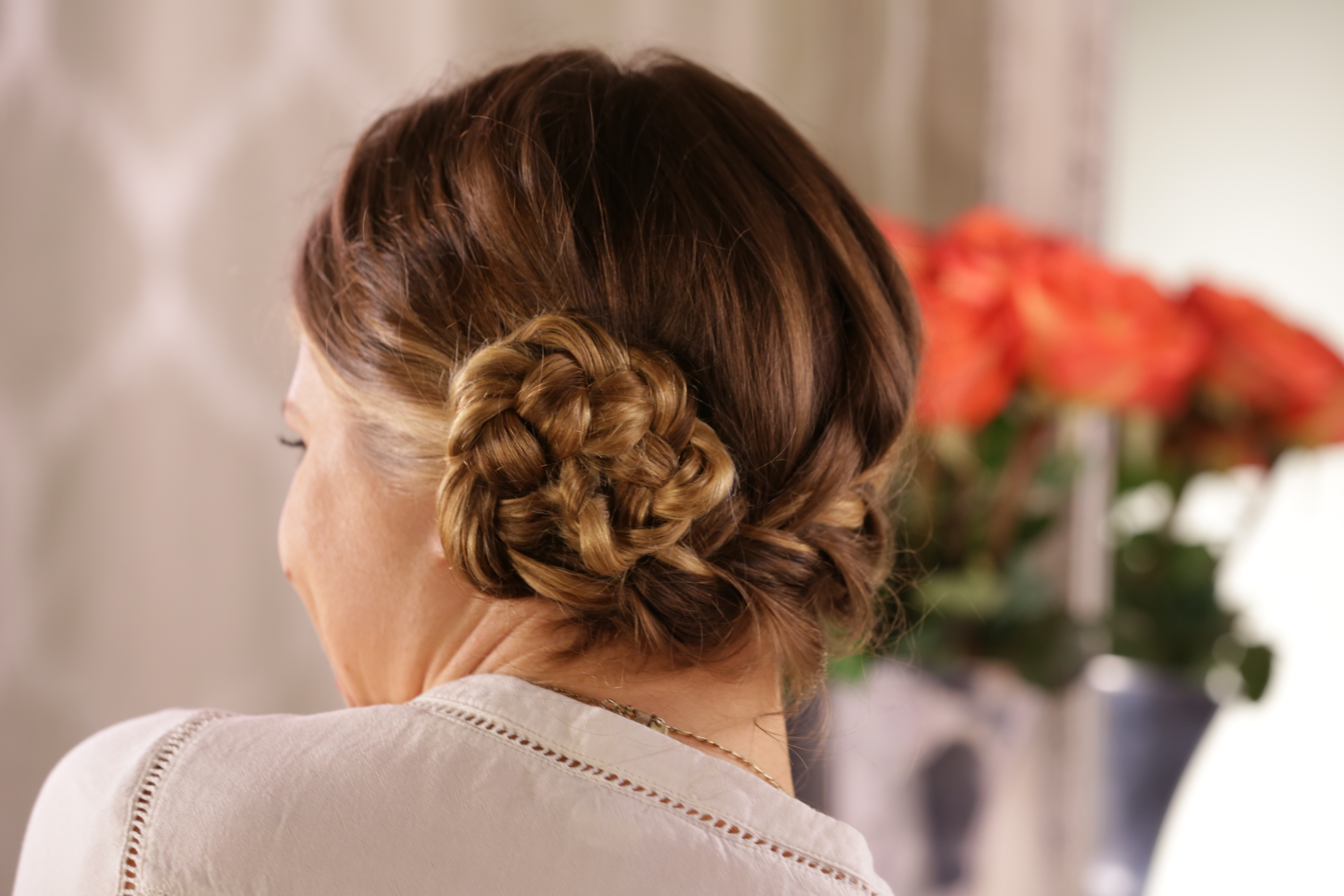 Cinnamon Roll Braided Updo How-To