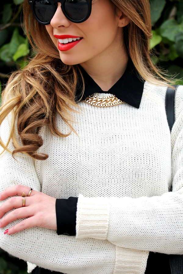 Spring Style: Contrast Collars