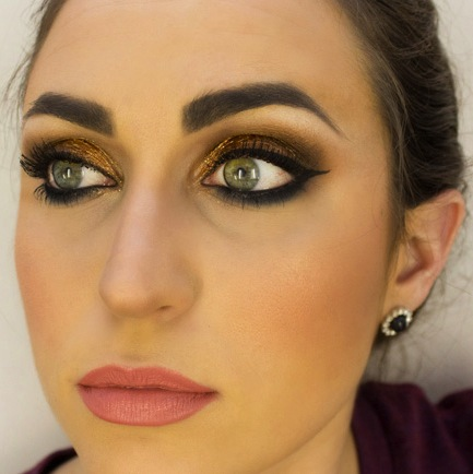 Holiday Makeup: Shiny Copper Eyes