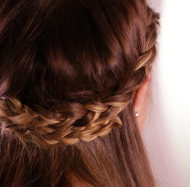 How to Make a Braided Hippie Crown Hairstyle