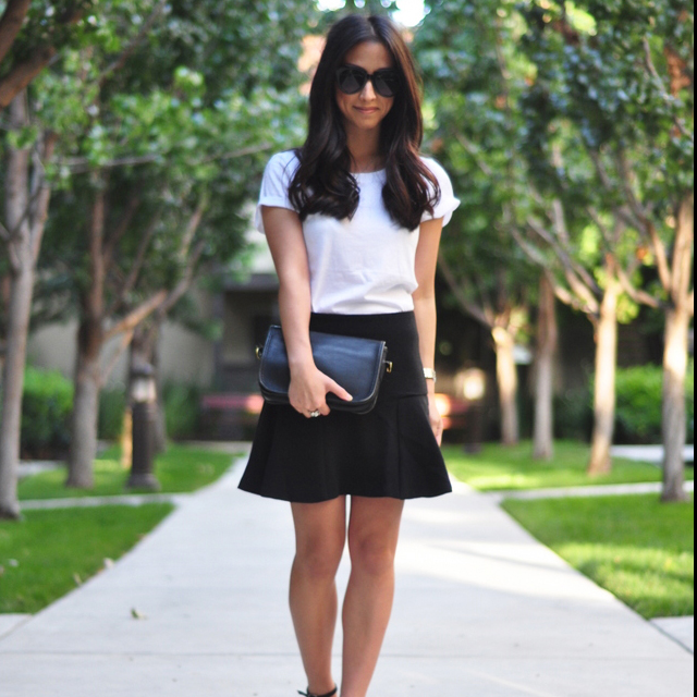 How to Wear the Black-and-White Trend