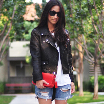 How to Dress Up Your Denim Shorts