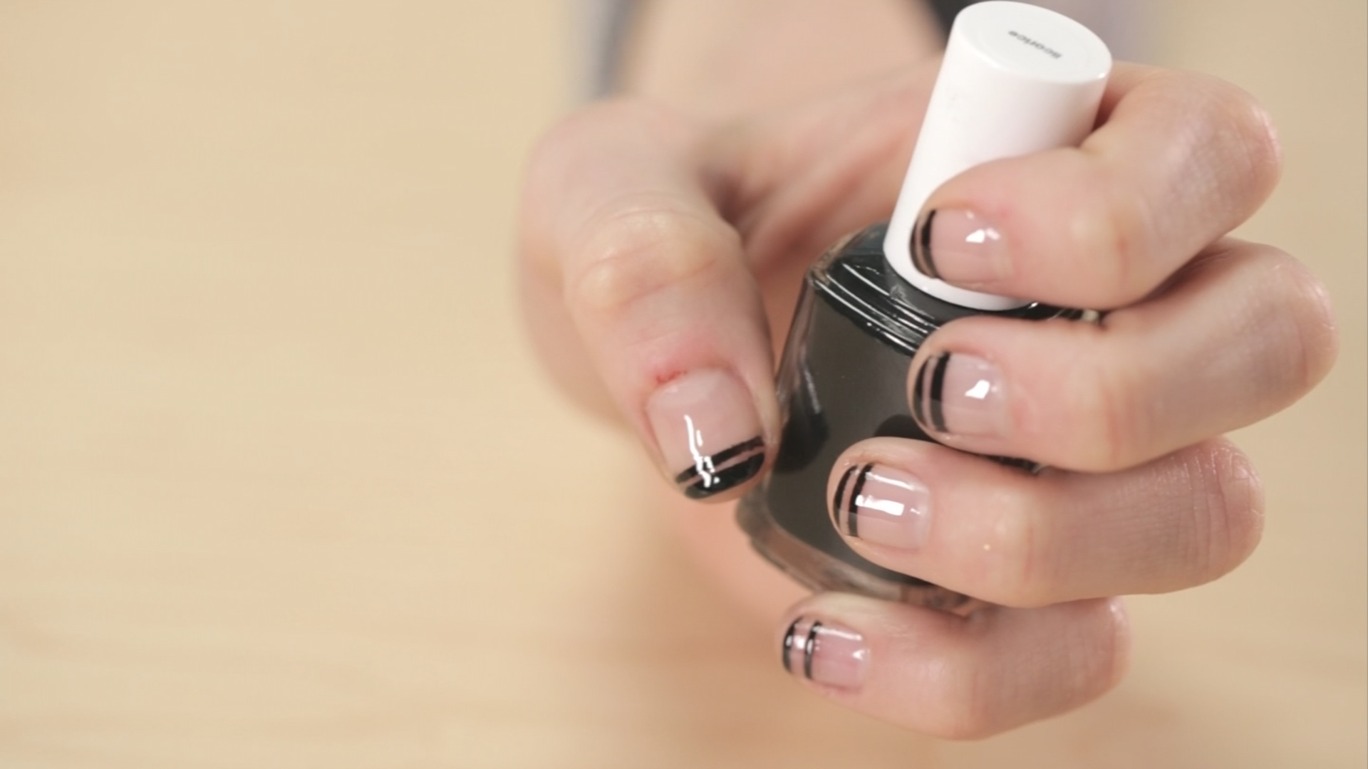 Double Black French Manicure