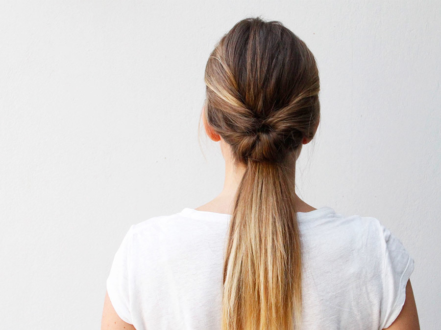This Double-Twist Ponytail Is The Perfect Five-Minute Hairstyle