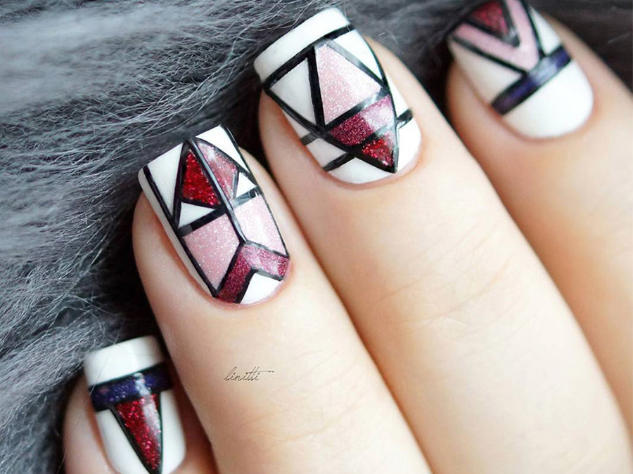 19 Geometric Manicures To Whip Your Nails Into Shape
