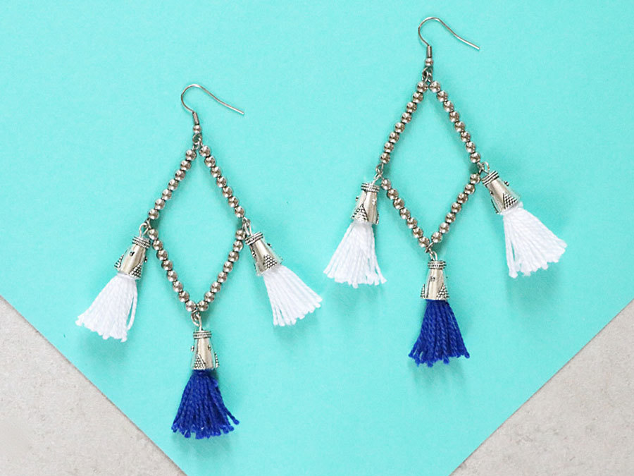 These DIY Diamond Tassel Earrings Are The Ultimate Ear Candy