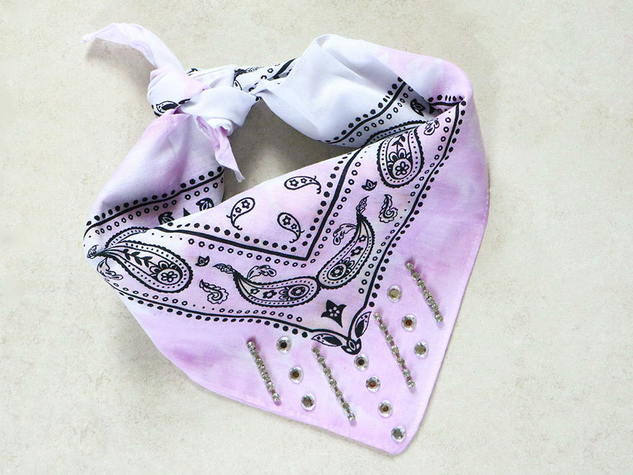 Learn How To DIY A Trendy Dyed And Embellished Bandana
