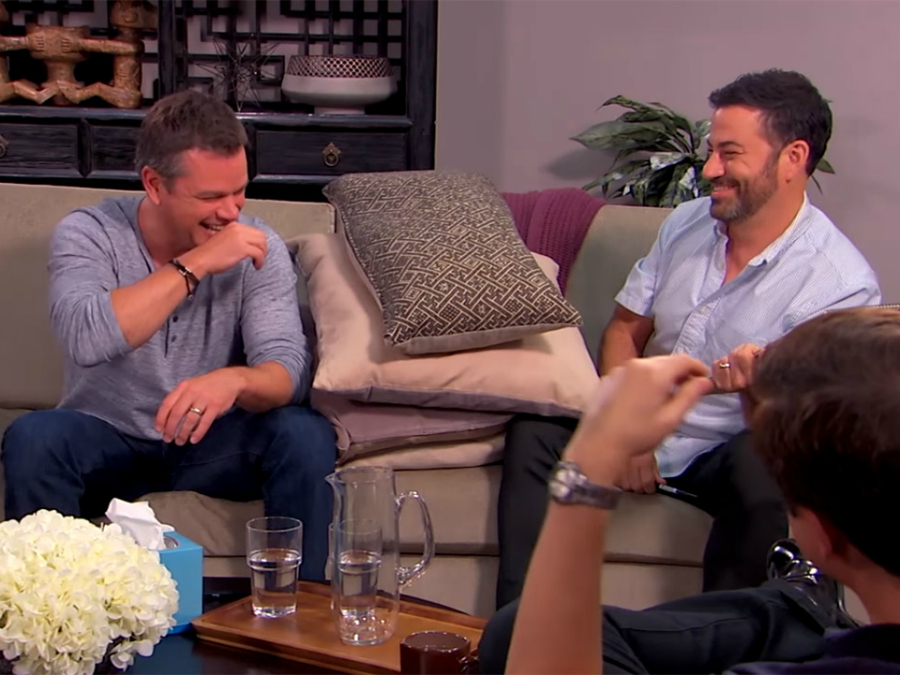 Matt Damon and Jimmy Kimmel Attend 'Court Ordered' Couples Therapy In a Hilarious Skit