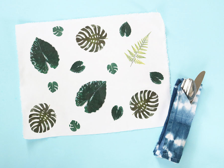 This Tropical Placemat DIY Will Instantly Brighten Up Your Home
