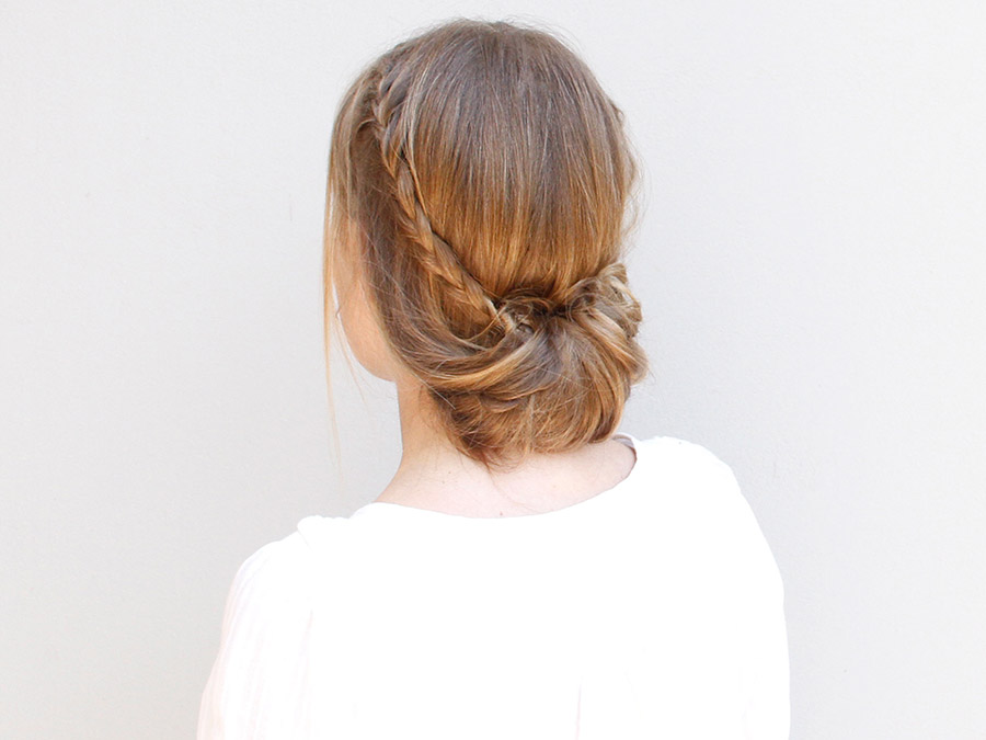 Wear This Hair: Crown Braid with a Bun