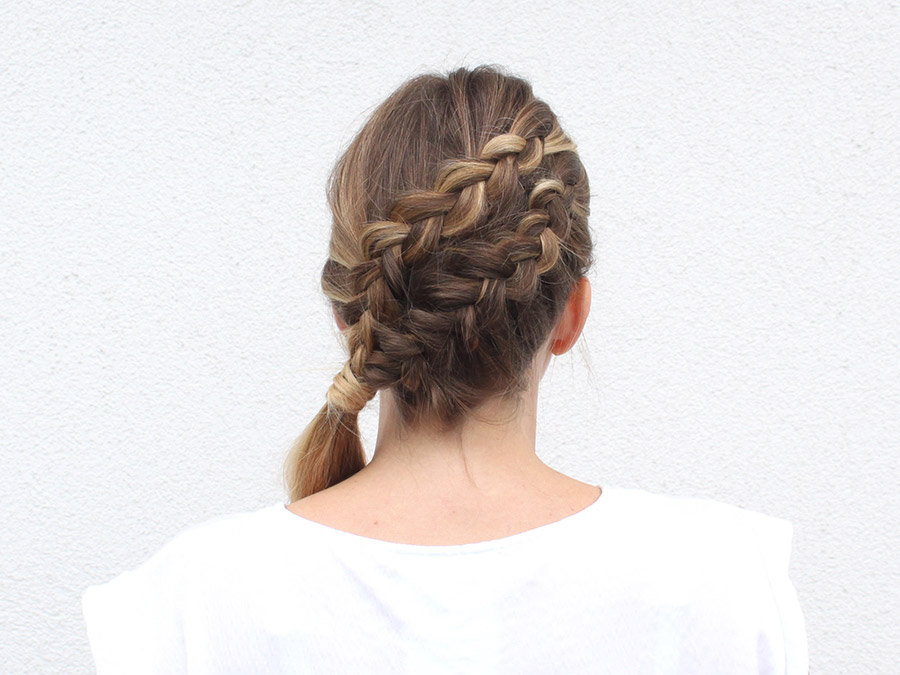 Give This Diagonal Double Lace Braid a Try