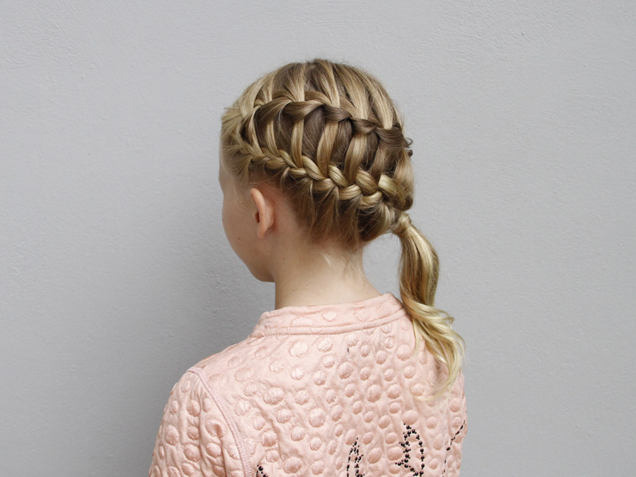 Try This Hairstyle: Diagonal Ladder Braid into a Side Ponytail