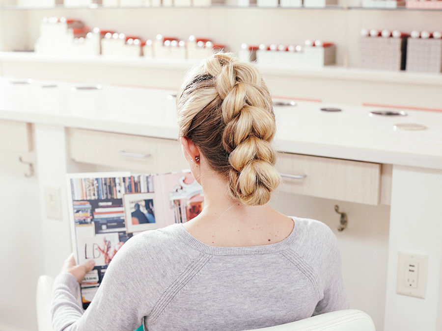 Braid Your Hair into This Cool Faux-Hawk Updo