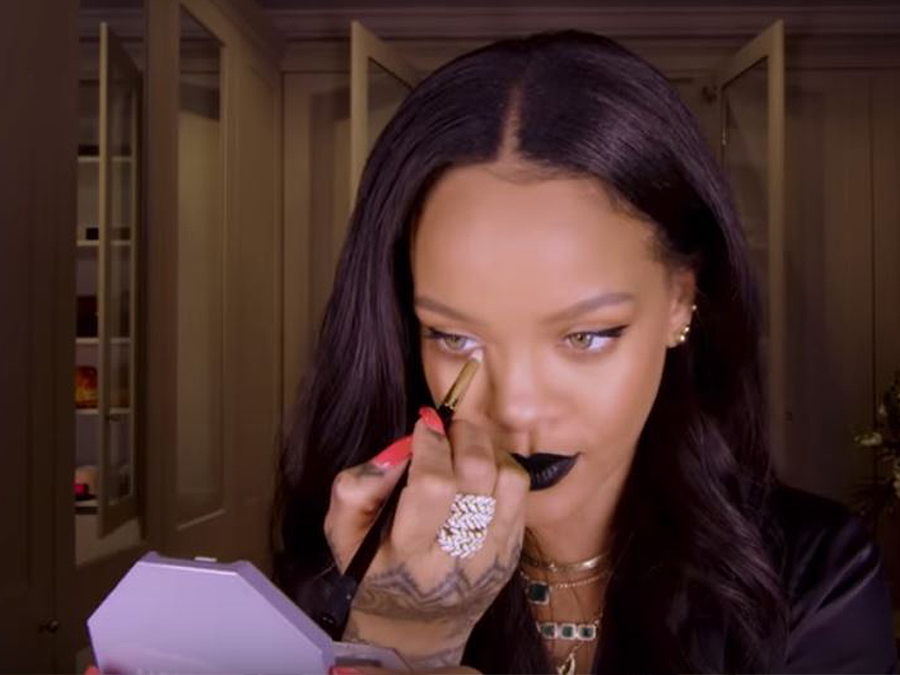 Rihanna's New Makeup Tutorial Has Us Loving The 'Goth Chic' Look