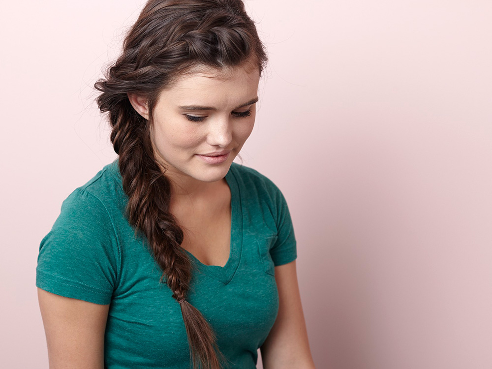 How to French Braid into a Side Fishtail Braid