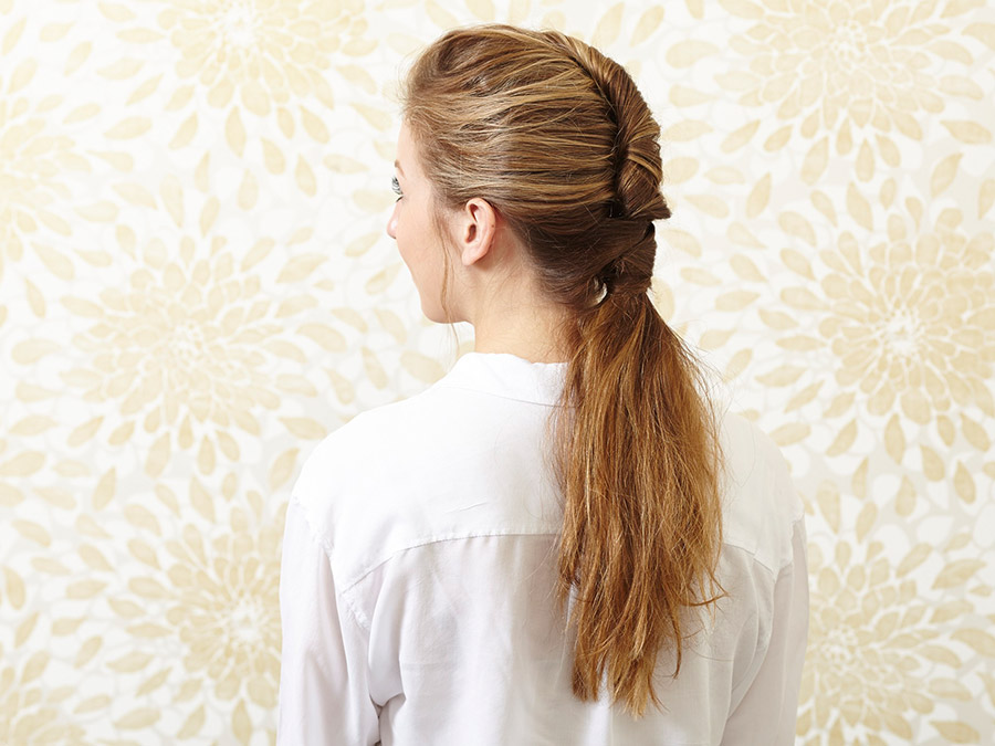 Easy Hair How-To: French-Twisted Ponytail