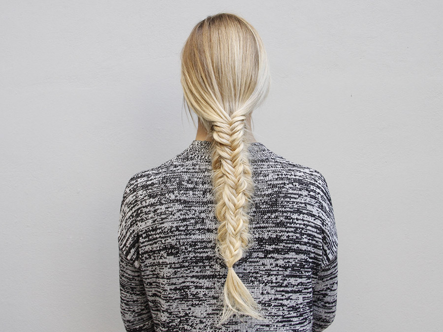 A Fresh Twist on the Split Fishtail Braid