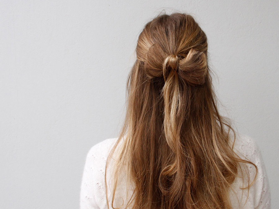 How to Create a Half-Up Hair Bow Using Your Own Hair