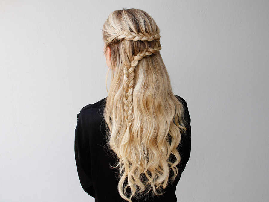 Leather and Lace Braid: Give This Romantic Half-Updo a Try