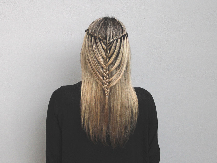 Take Your Everyday Look to the Next Level with a Waterfall/Mermaid Braid Combo