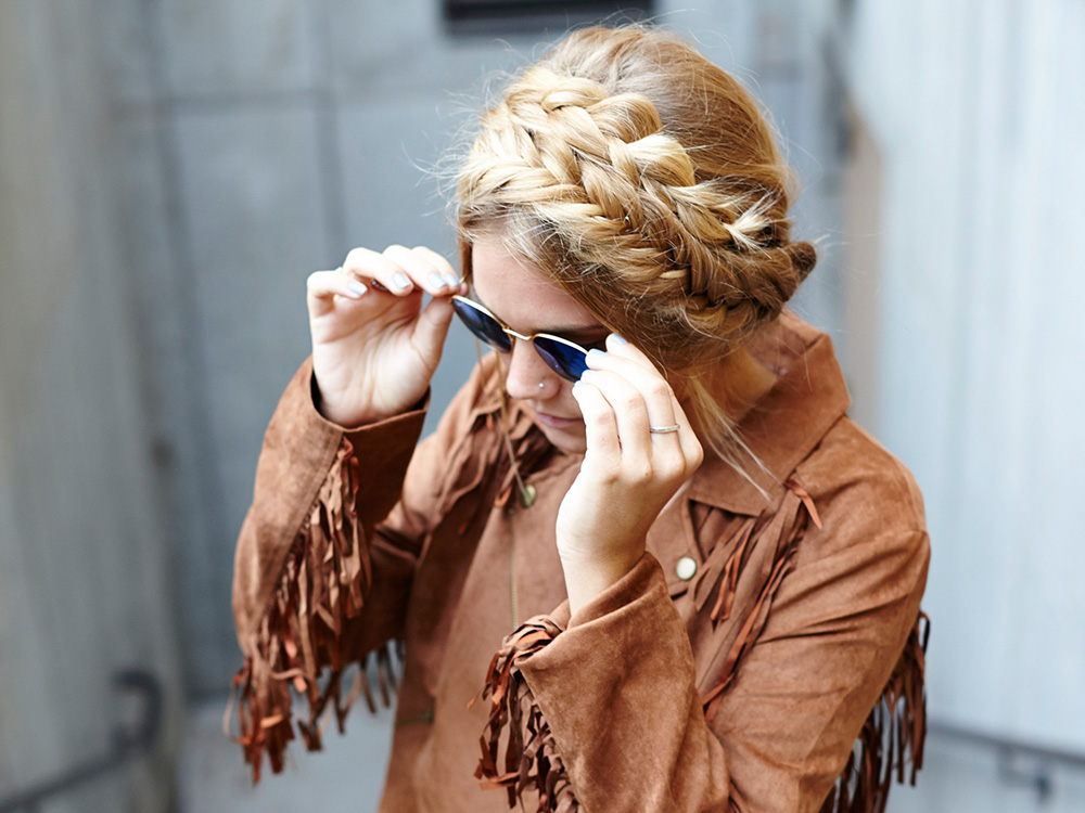 Get These Easy Boho Mixed Milkmaid Braids