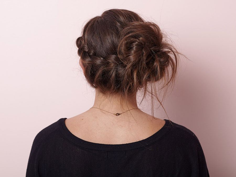 Pretty Messy: The Braided Bun Updo for Any Occasion
