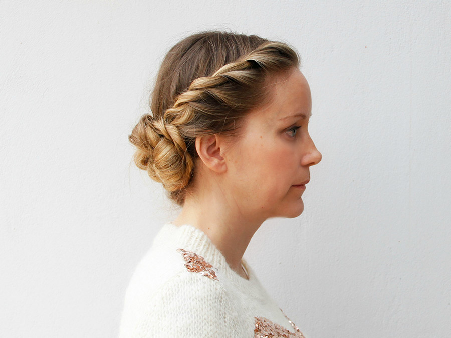 Sweet and Simple: How to Get This Rope Braid Updo
