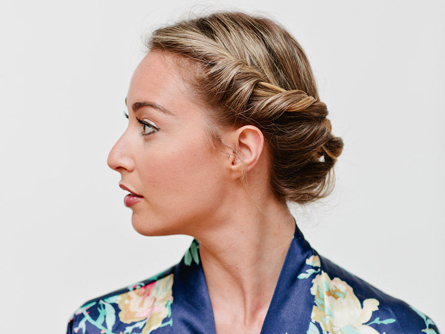 How to Create a Sexy Rope Braid Updo