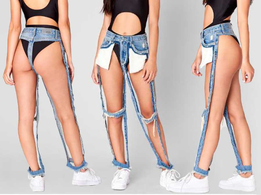 These Sold-Out Thong Jeans Take Ripped Denim To The Extreme