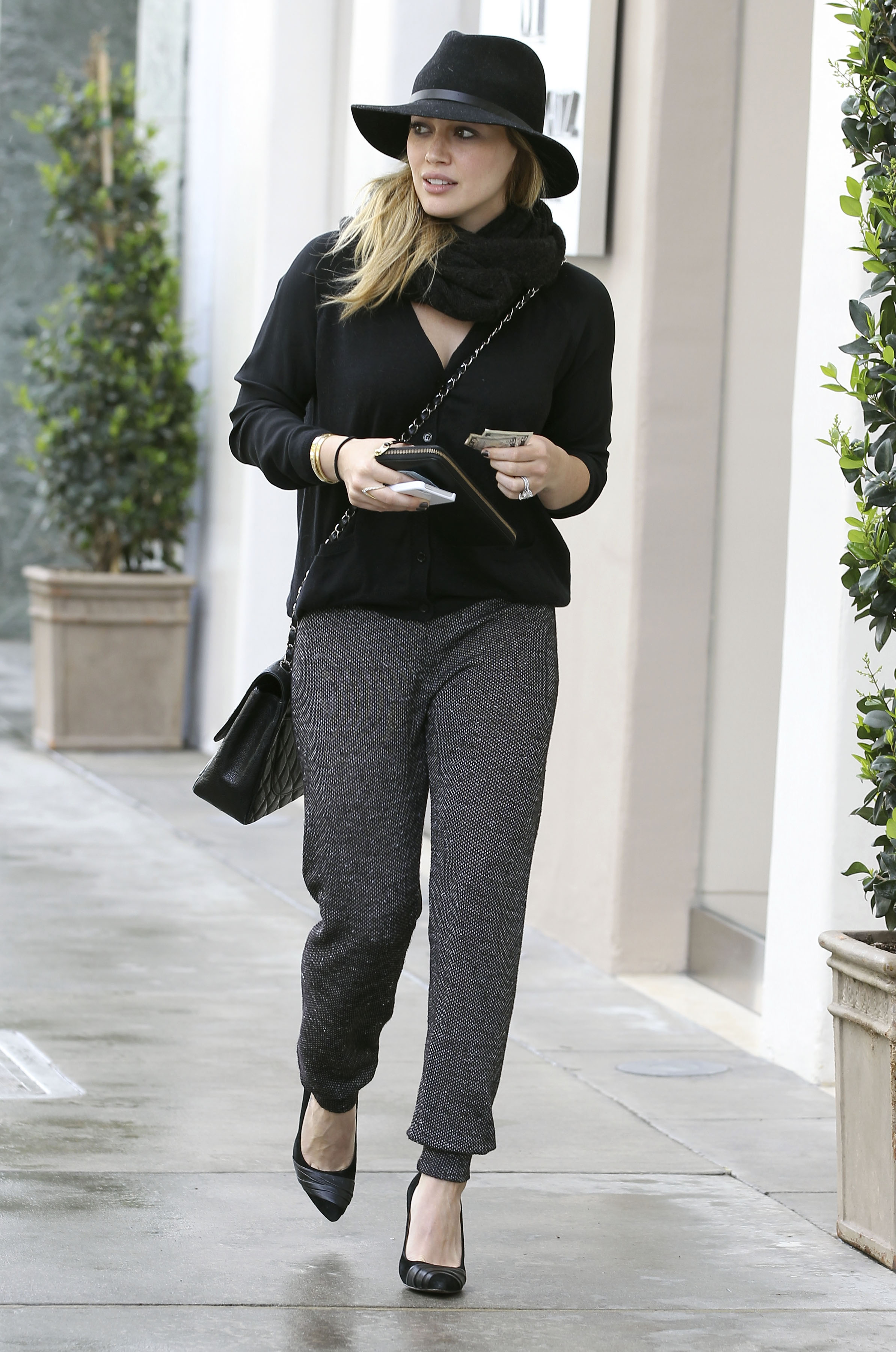 Get the Look: Hilary Duff's Street-Chic Track Pants