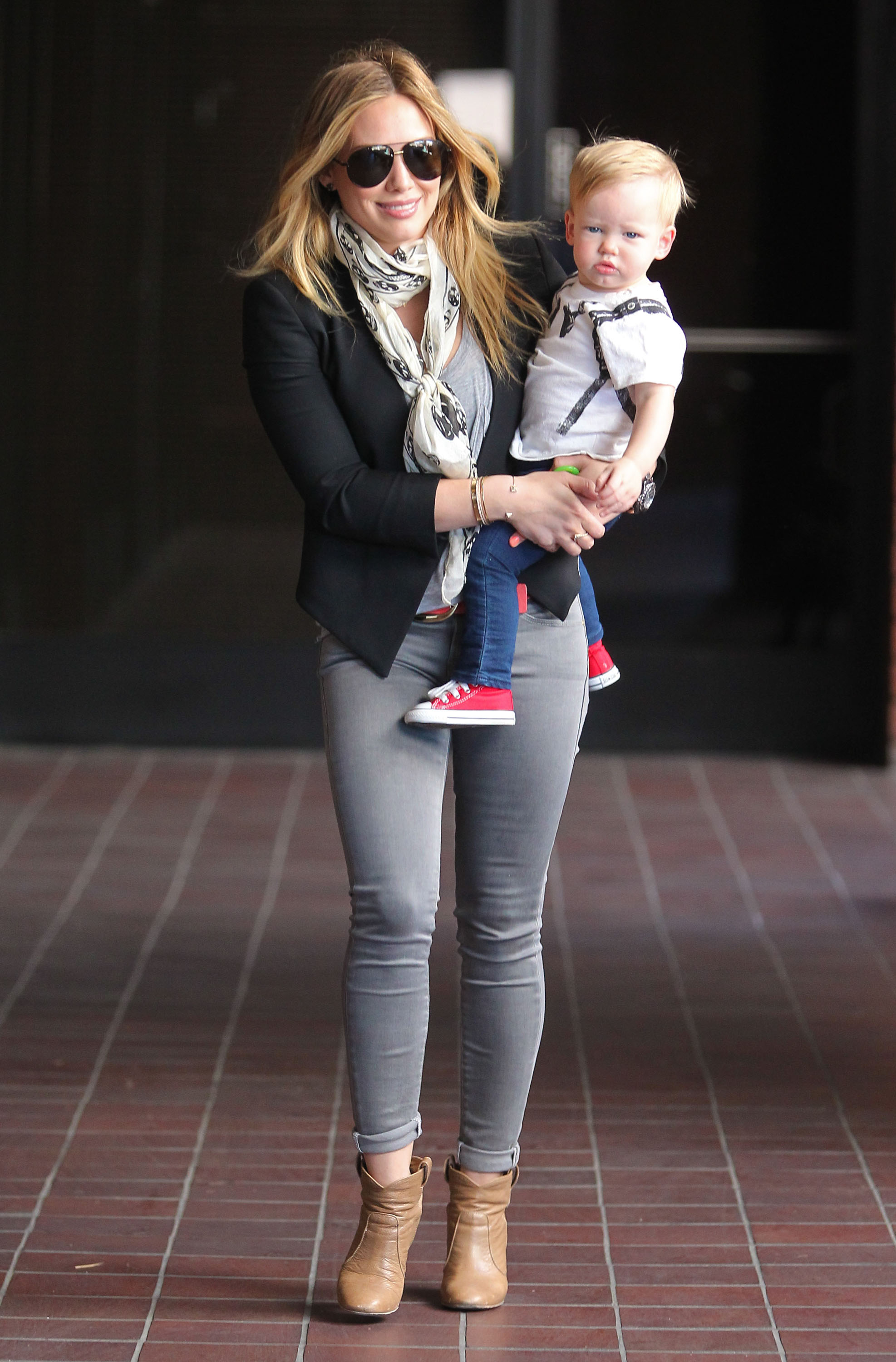 Get the Look: Hilary Duff's Grayscale Spring Look