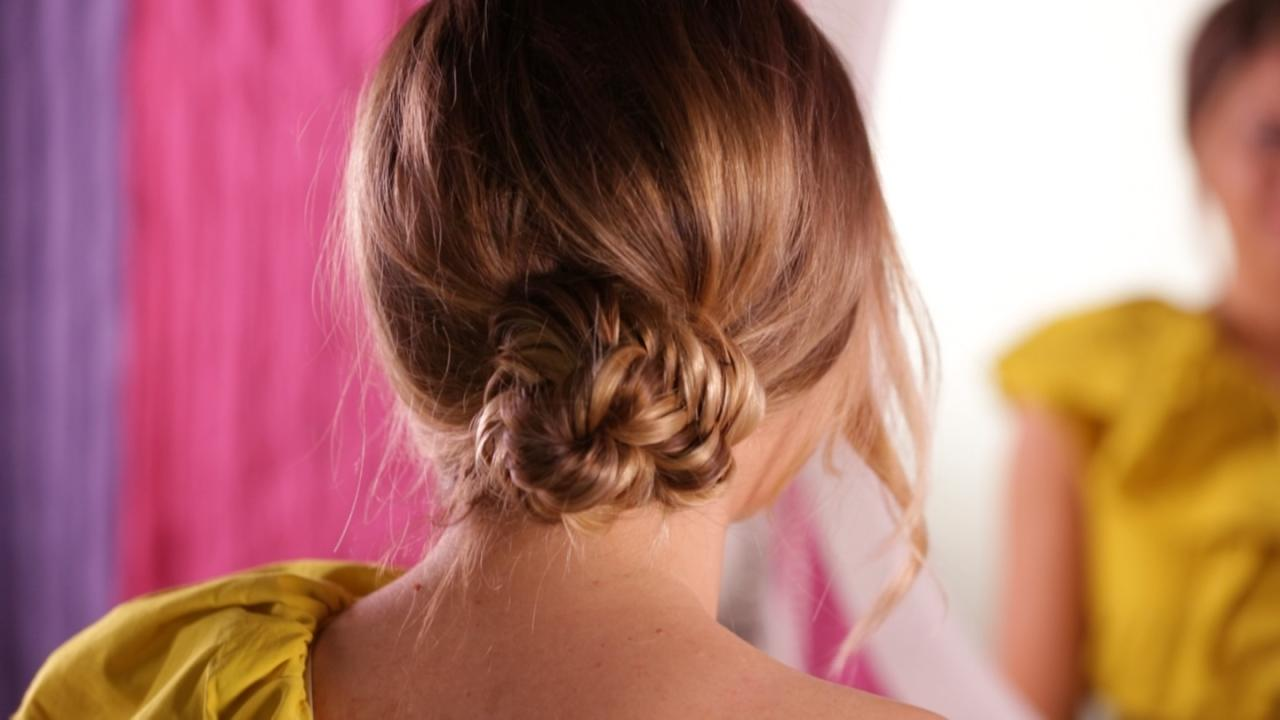 How to Make a Fishtail Chignon