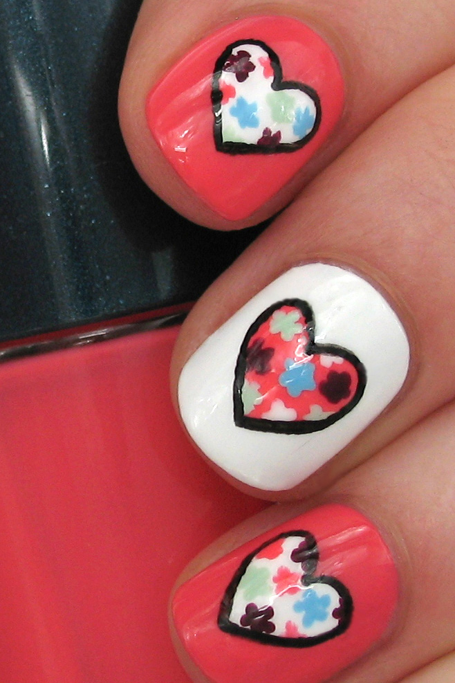 Hearts and Flowers: Valentine's Day Nail Art