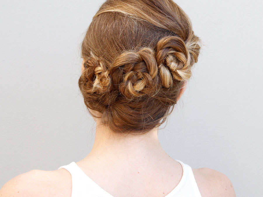 This Flower Braid Updo Is Perfect For A Summer Wedding